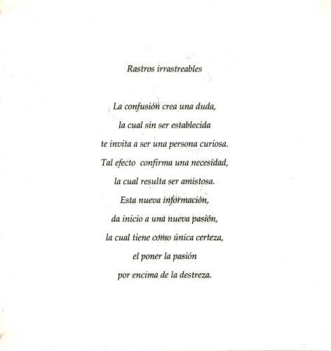 Poema Rastros